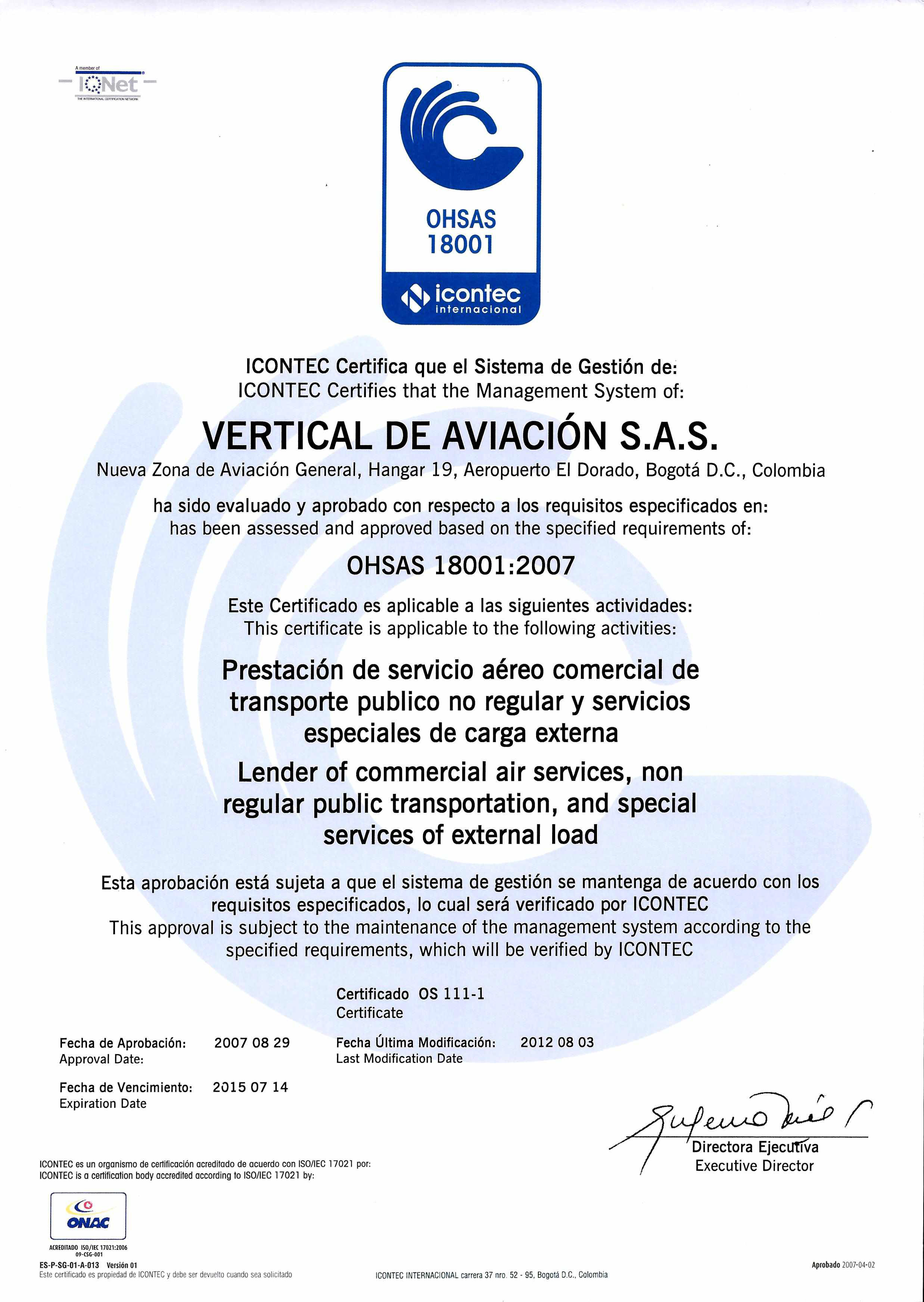 OHSAS 18001 COLOMBIA DOWNLOAD